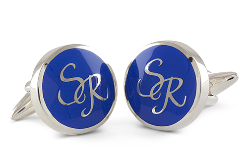 Monogram Cufflinks in button shaped
