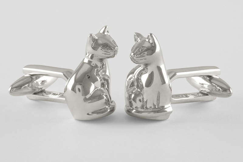 Cat full body Cufflinks
