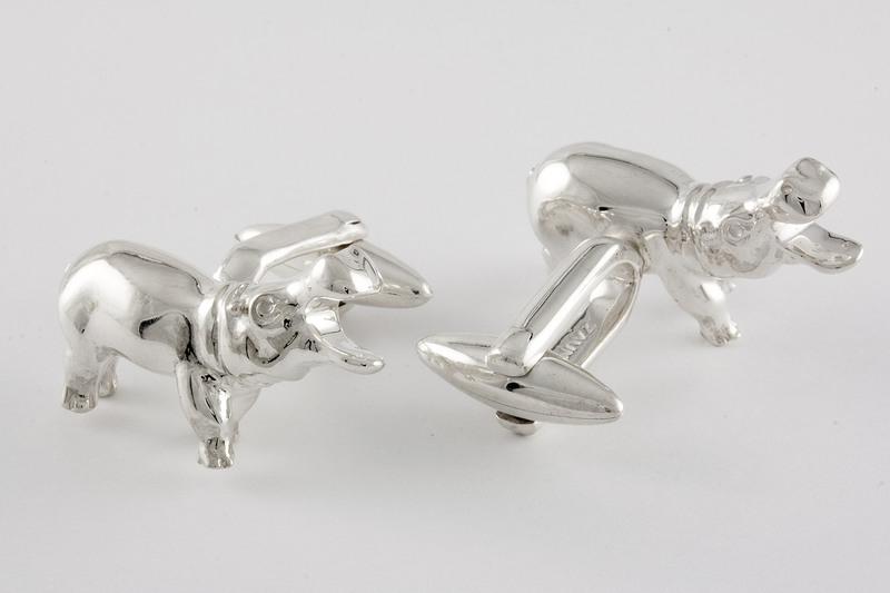 hippo tie clip custom wild animal cufflinks hippo tie tack round or square cufflink ON SALE hippo Cufflinks Hippopotamus cuff links