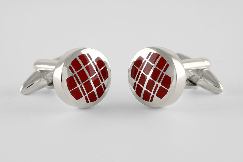 Double plaid Cufflinks