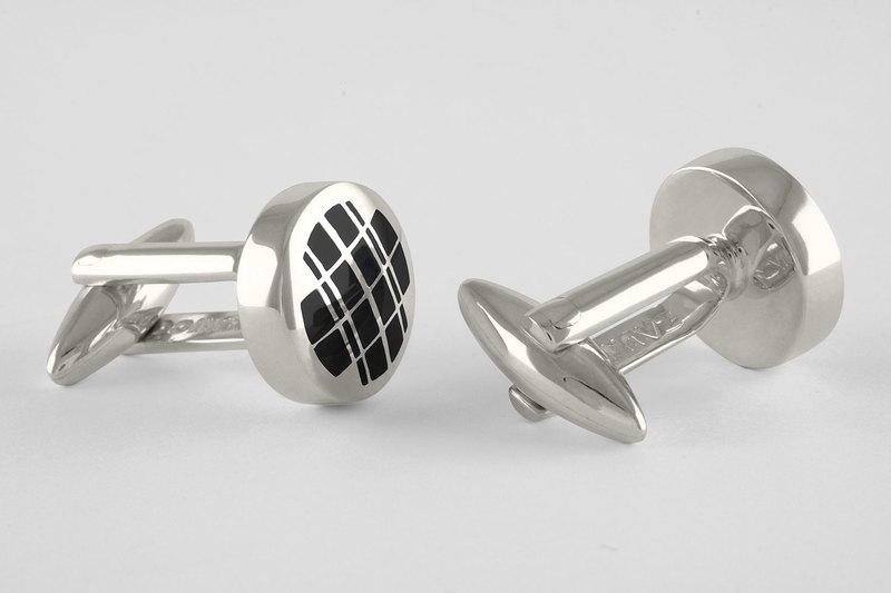 Double plaid Cuff links