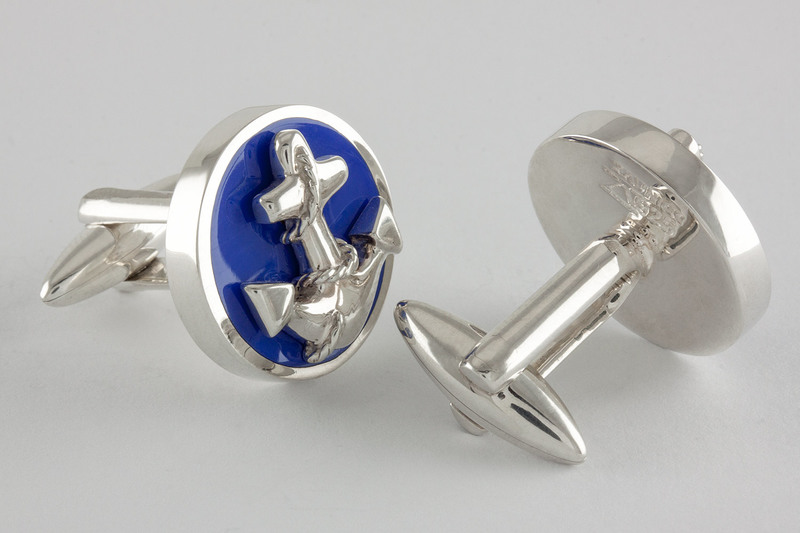Enamel anchor Cufflinks