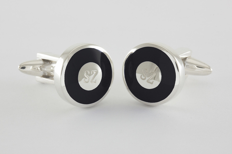 Engraved initials Cufflinks