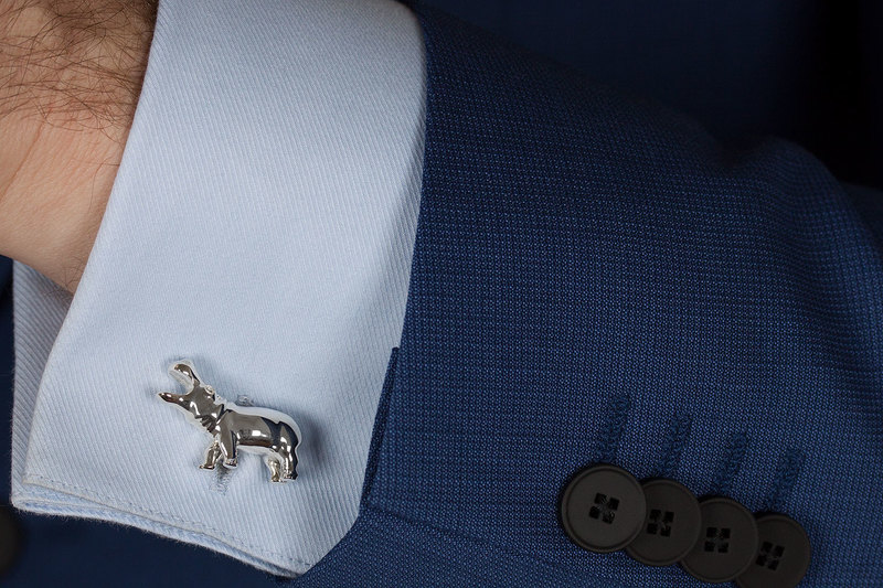 Hippo Cuff links