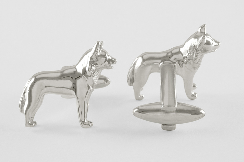 Sledge dog Cuff links