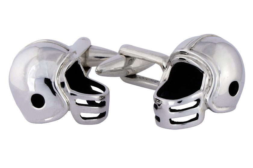 Sterling Silver Football Cuff Links
