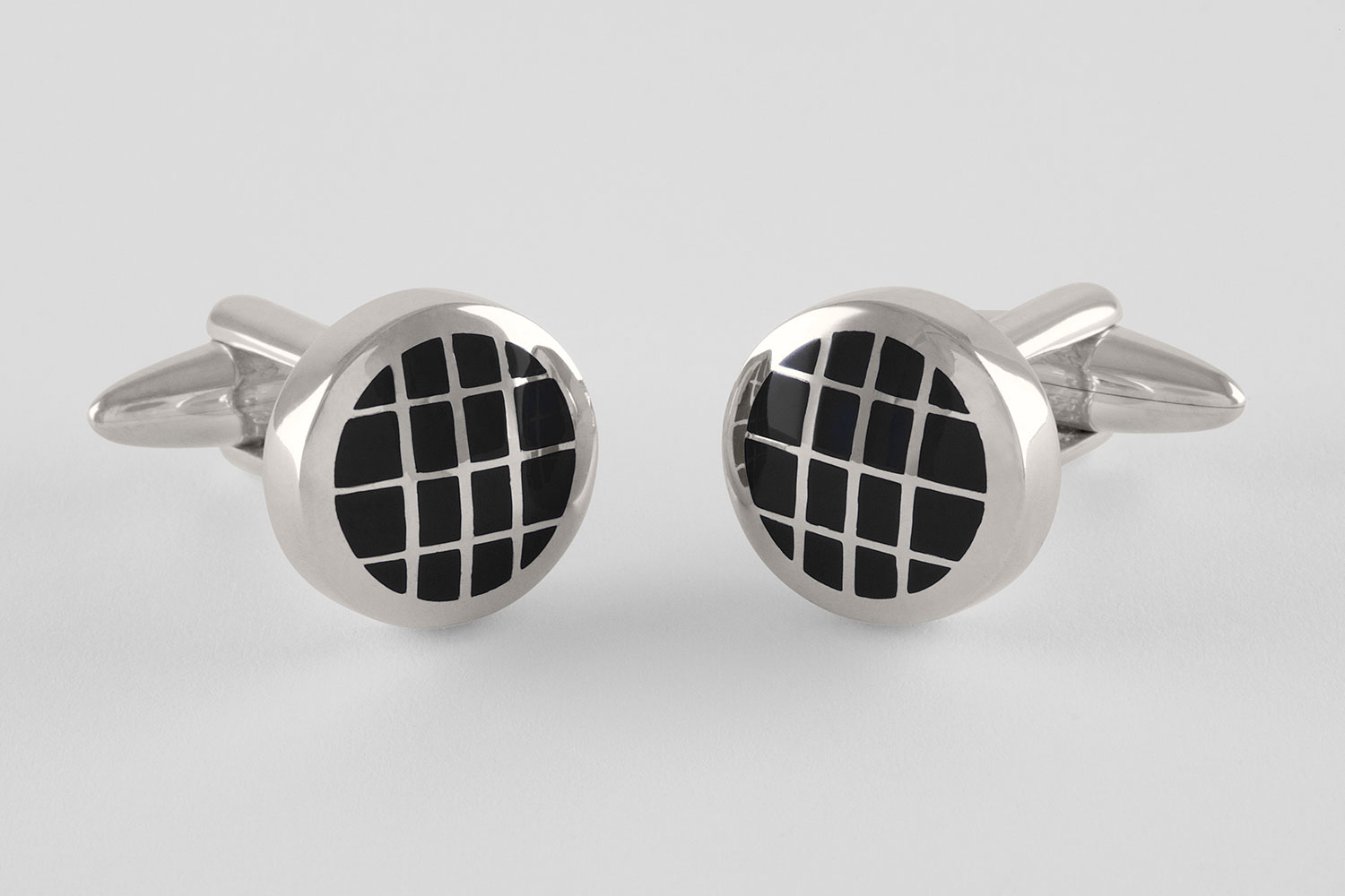plaid cufflinks